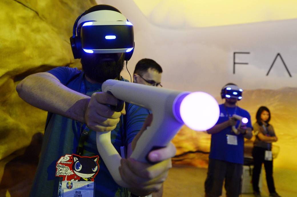 Spieler mit VR Brille