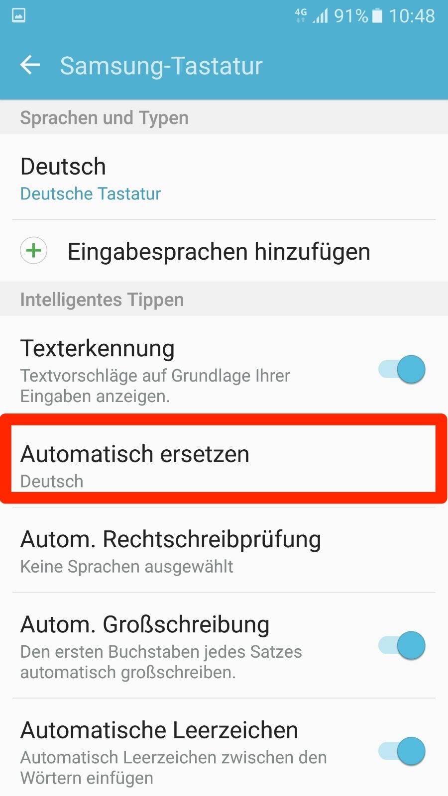 android autokorrektur ausschalten
