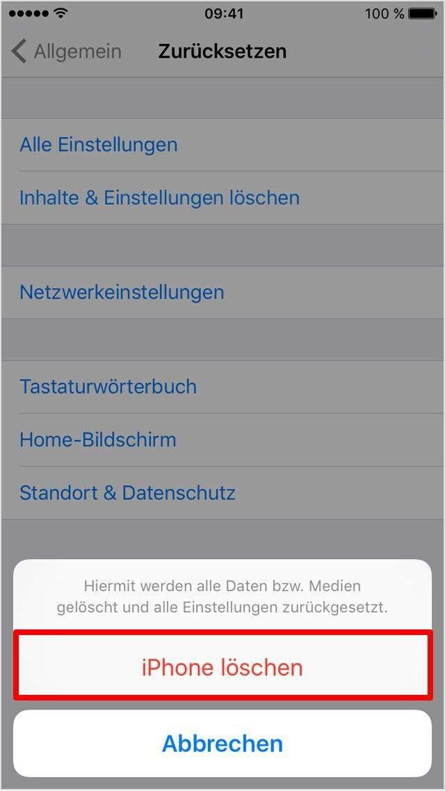 So Setzen Sie Ihr Iphone Auf Werkseinstellungen Zuruck Techbook