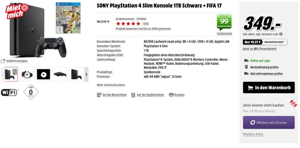 Konsole Playstation 4