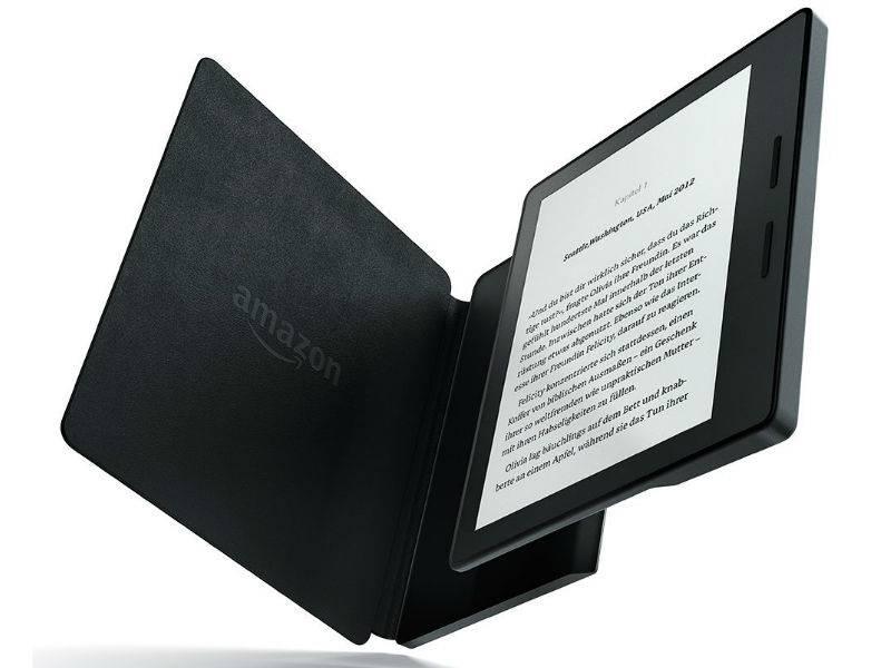 Amazons Kindle Oasis hat einen Zusatzakku in der Hülle. Ohne diesen kommt der Luxus-E-Book-Reader laut Computer Bild nur auf 20 Stunden.