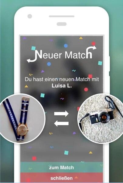 Neuer Match erscheint auf dem Display