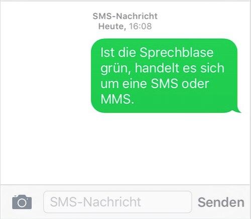 iphone sms senden