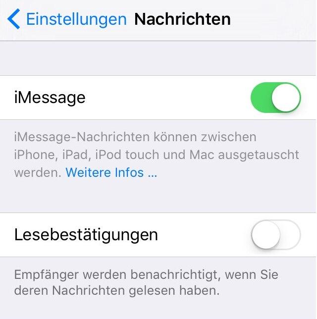 Wie schreibt man sms statt imessage