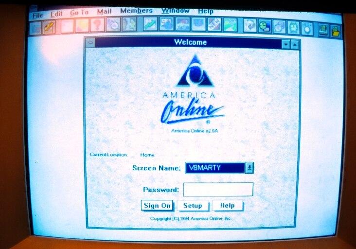 America Online aus dem Jahr 1994.