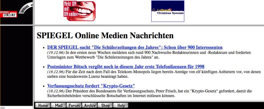 Die Internetseite Spiegel Online gehört zu den beliebtesten Nachrichtenseiten der Deutschen.