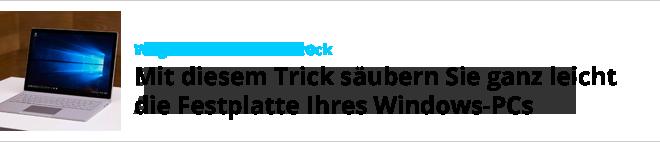 Windows Festplatte saeubern