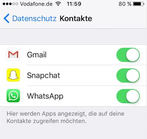 whatsapp kontakte löschen auf dem iphone