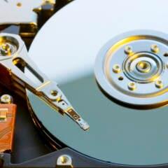 Festplatte Innenansicht
