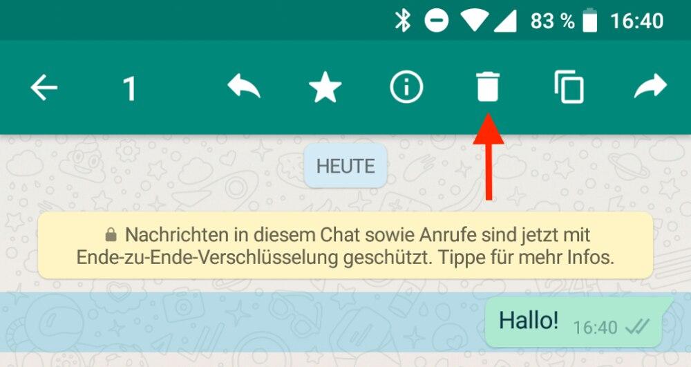 Einzelne whatsapp nachrichten löschen iphone