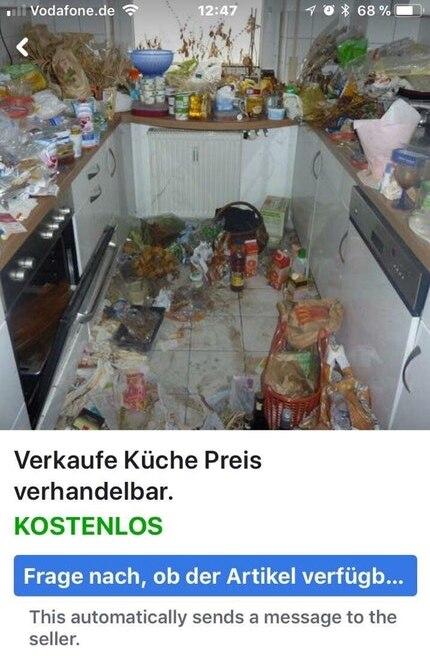 Wer in dieser Küche jemals wieder Etwas kochen wollte, ist nicht überliefert.