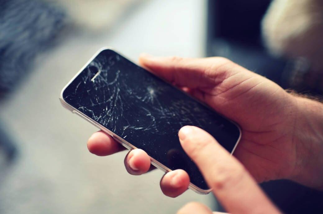 Smartphone mit gebrochenem Display