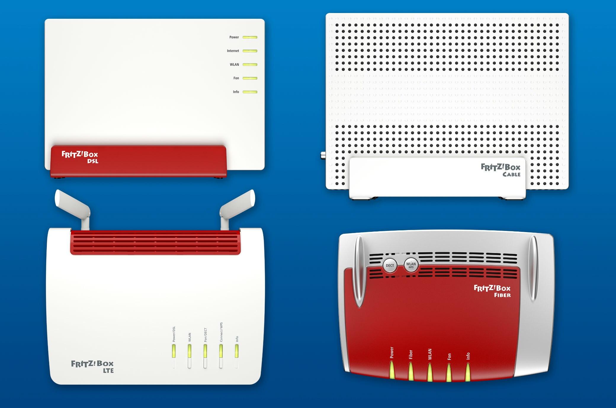 Sechs Fritzboxen für DSL und Kabel bekommen neue Firmware - TECHBOOK