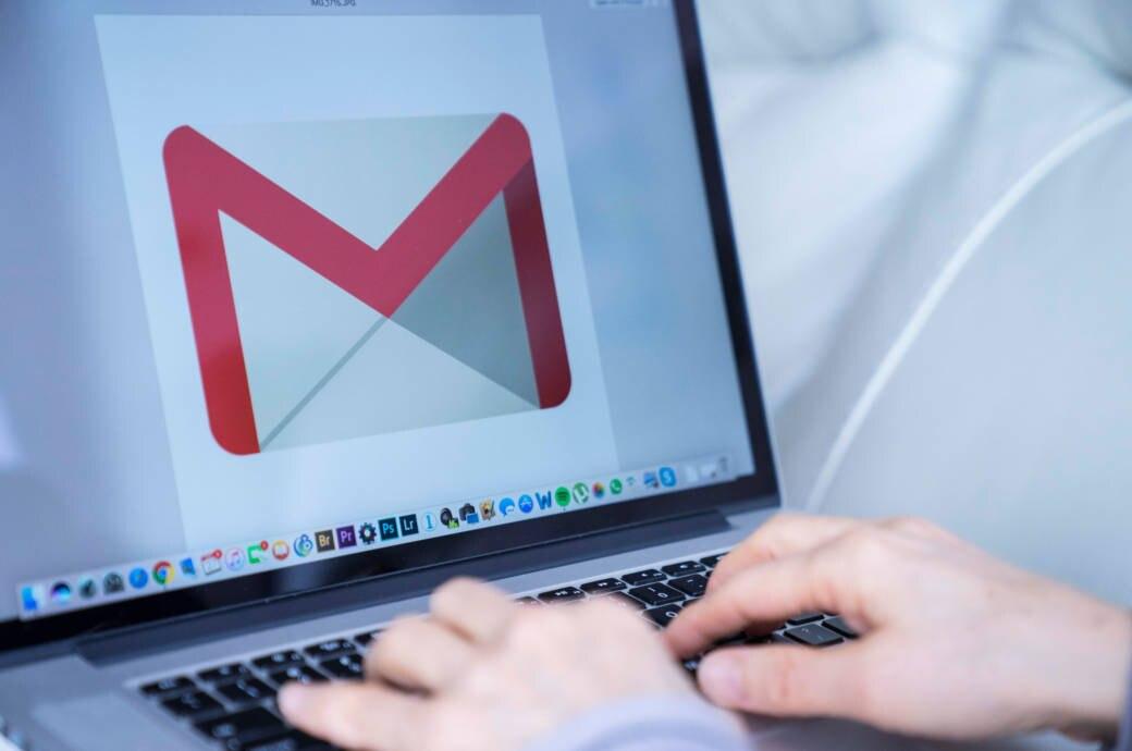 Google Mail auf Laptop