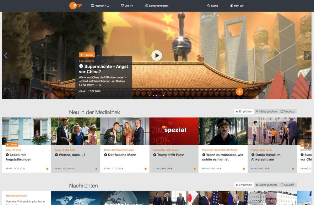 Screenshot ZDF Mediathek