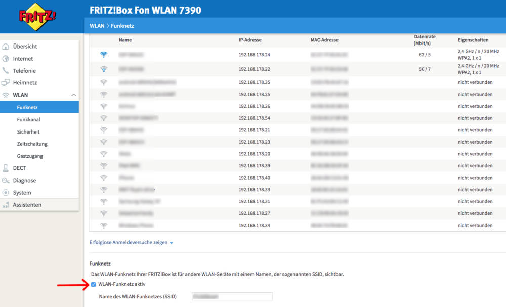 Fritzbox 7390 wps