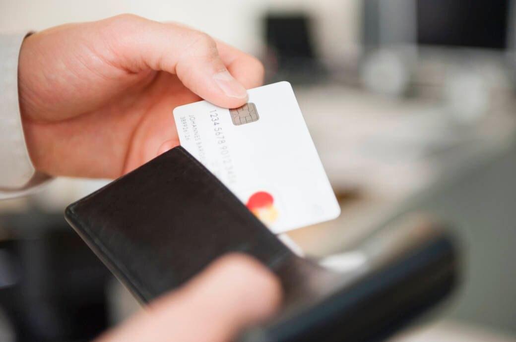 Kreditkarte in einem Portemonnaie
