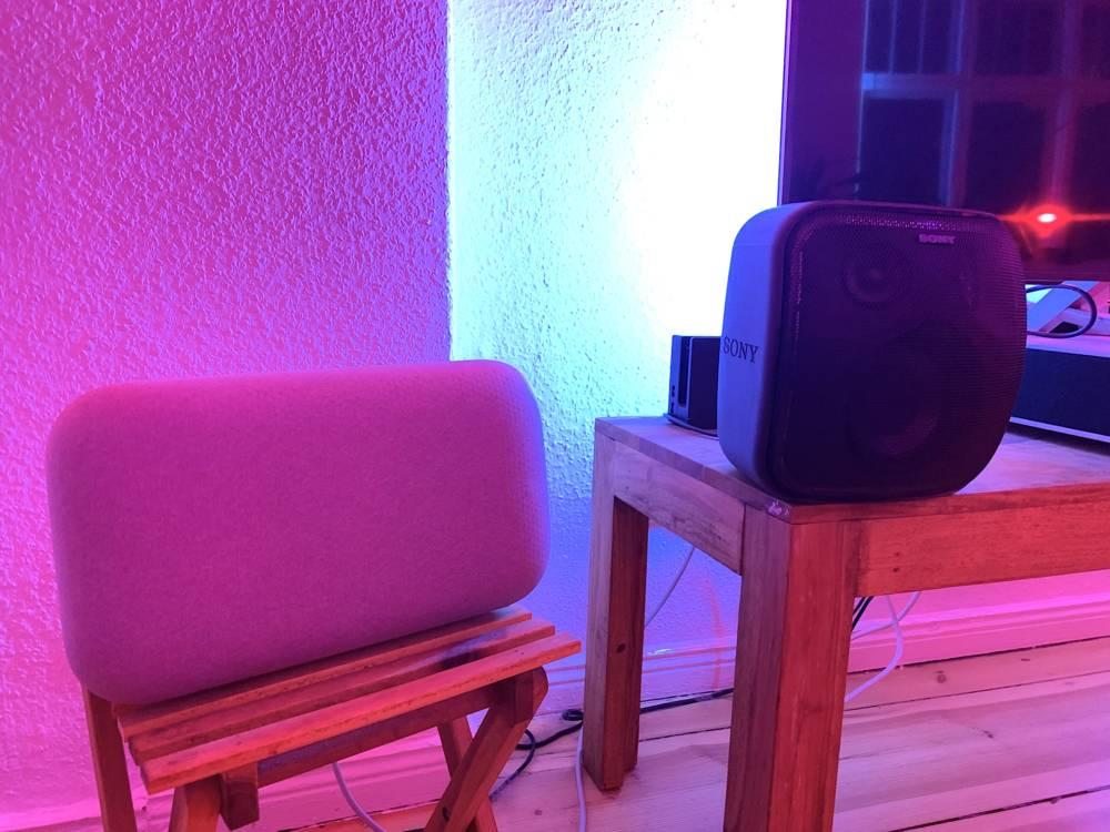 Sony XB501G EXTRA BASS und Google Home Max