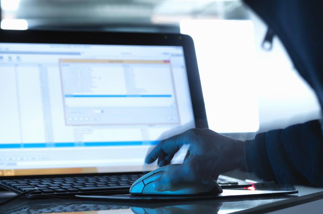 Cyber-Attacke auf Computer