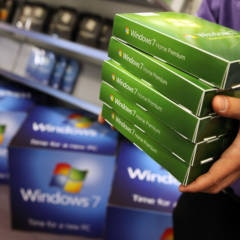 Windows 7 Installations-CD im Laden