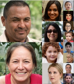 So sehen die Gesichter, die von KI erschaffen sind, aus