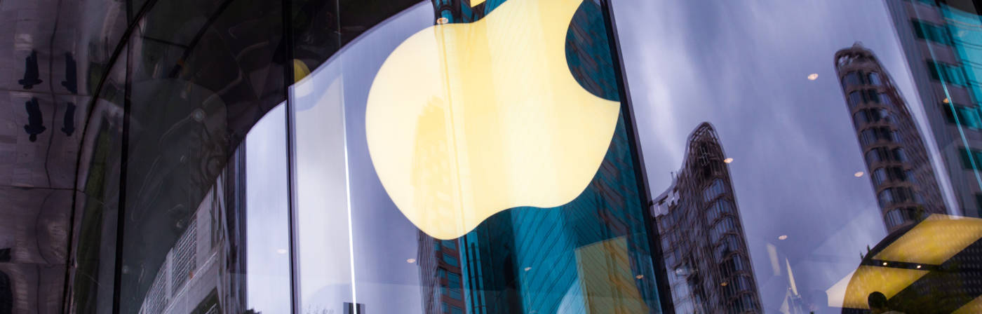 Apple Logo auf Hausfassade