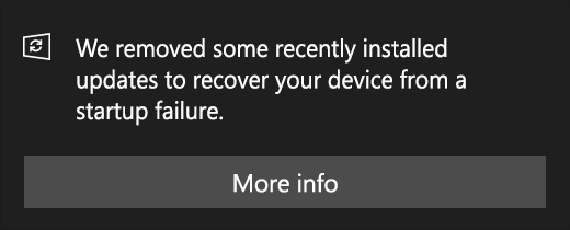 Windows update removed