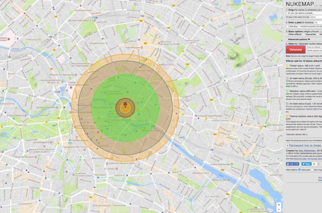 Nukemap Anschlag Einer Atombombe Online Simulieren Techbook