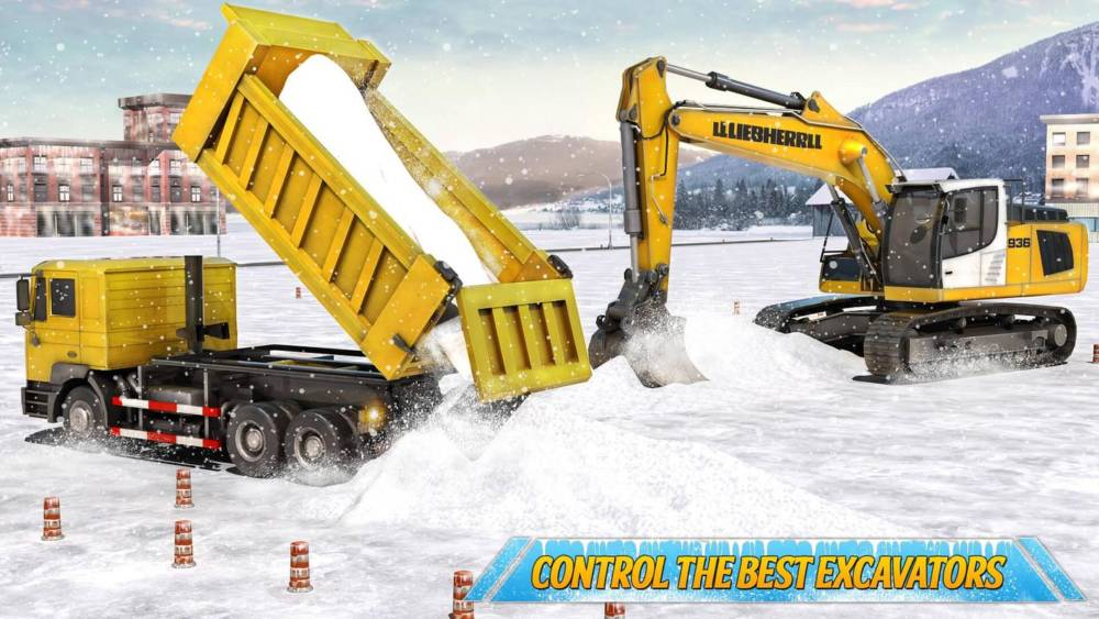 Screenshot Snow Heavy Excavator Simulator