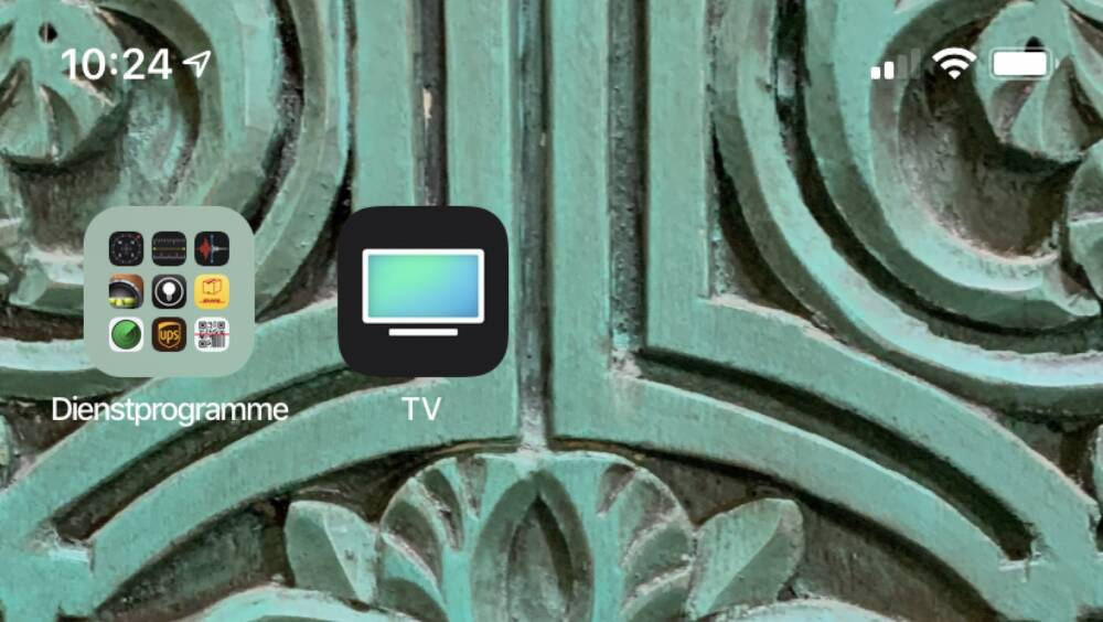 The old Apple TV App logo