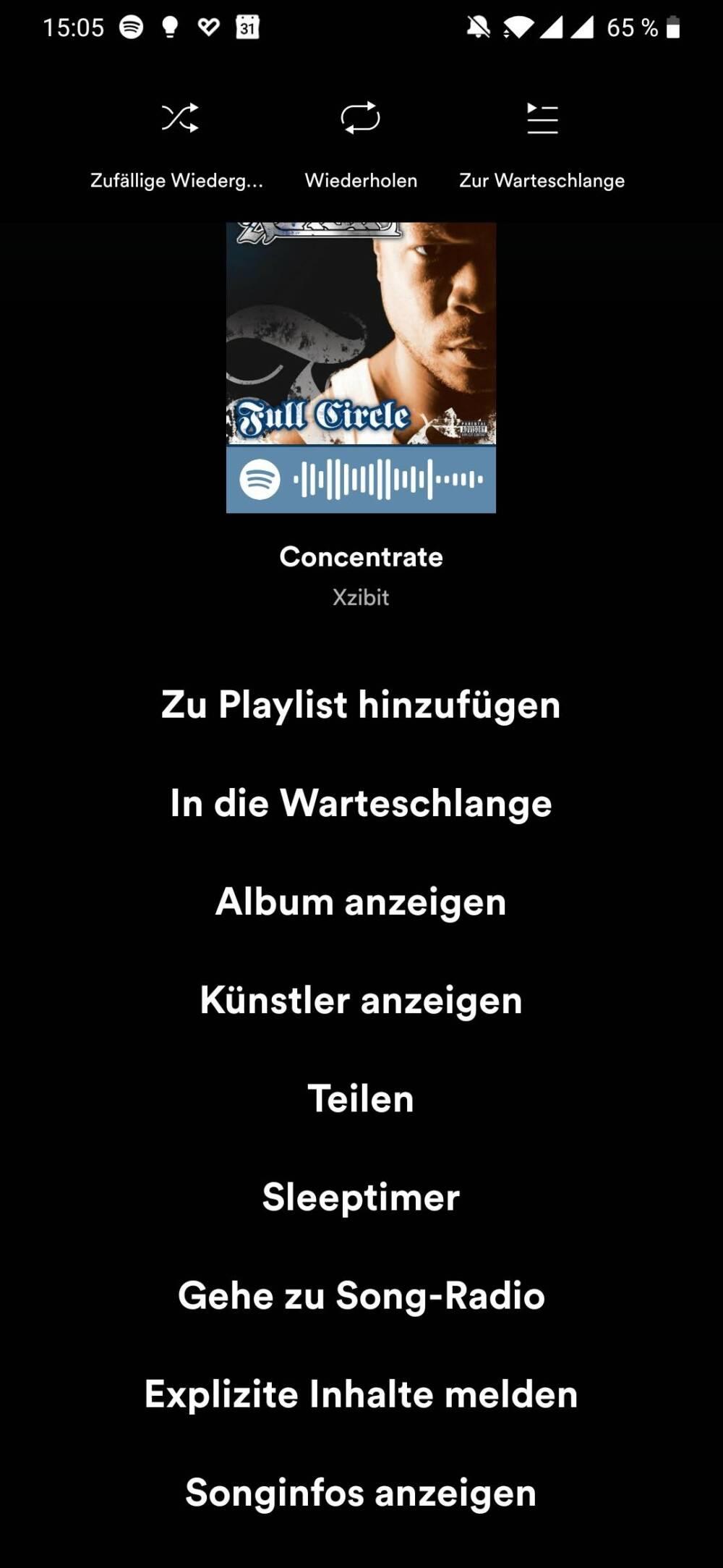 Spotify Screenshot Sleep Timer 2