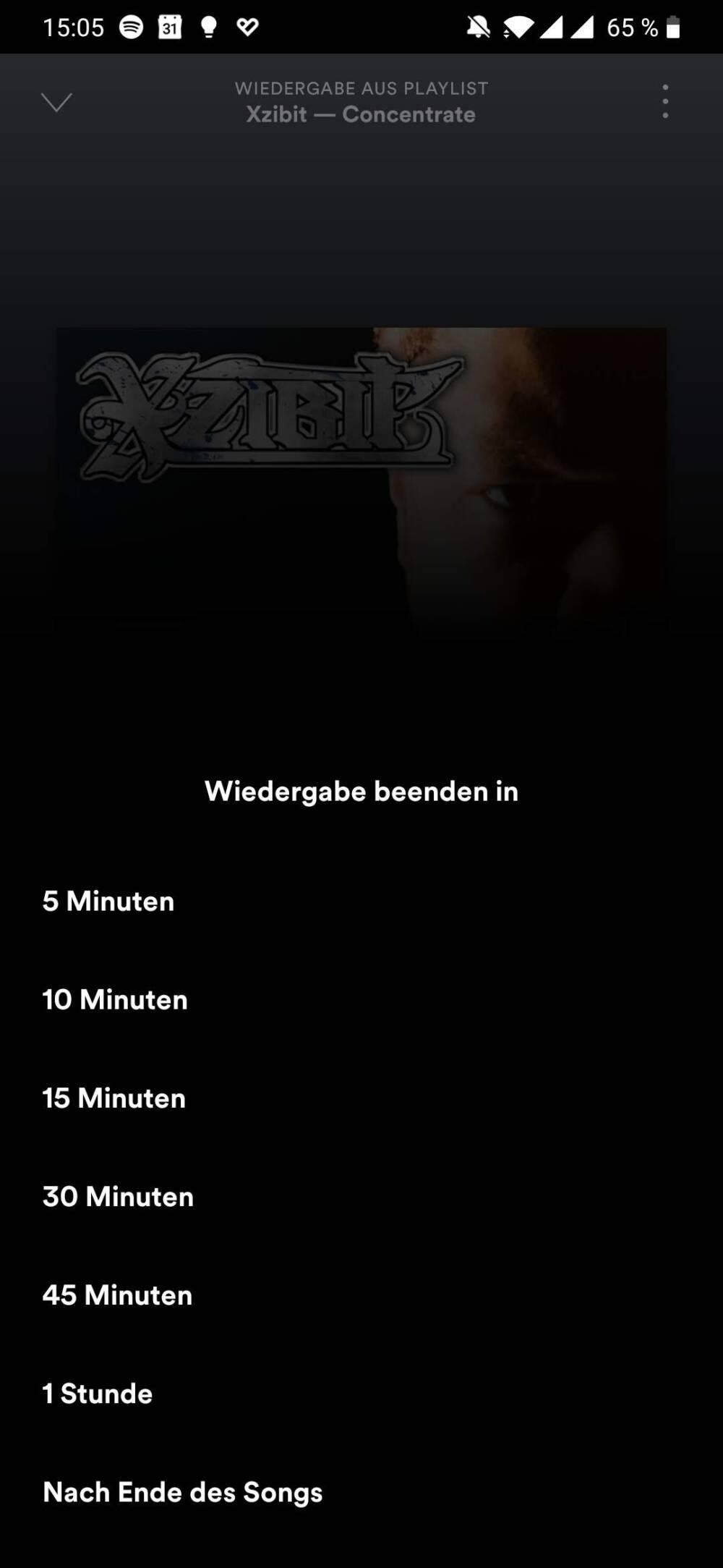 Spotify Screenshot Sleep Timer 1
