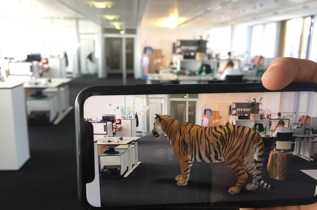 Ein Tiger mitten im Raum