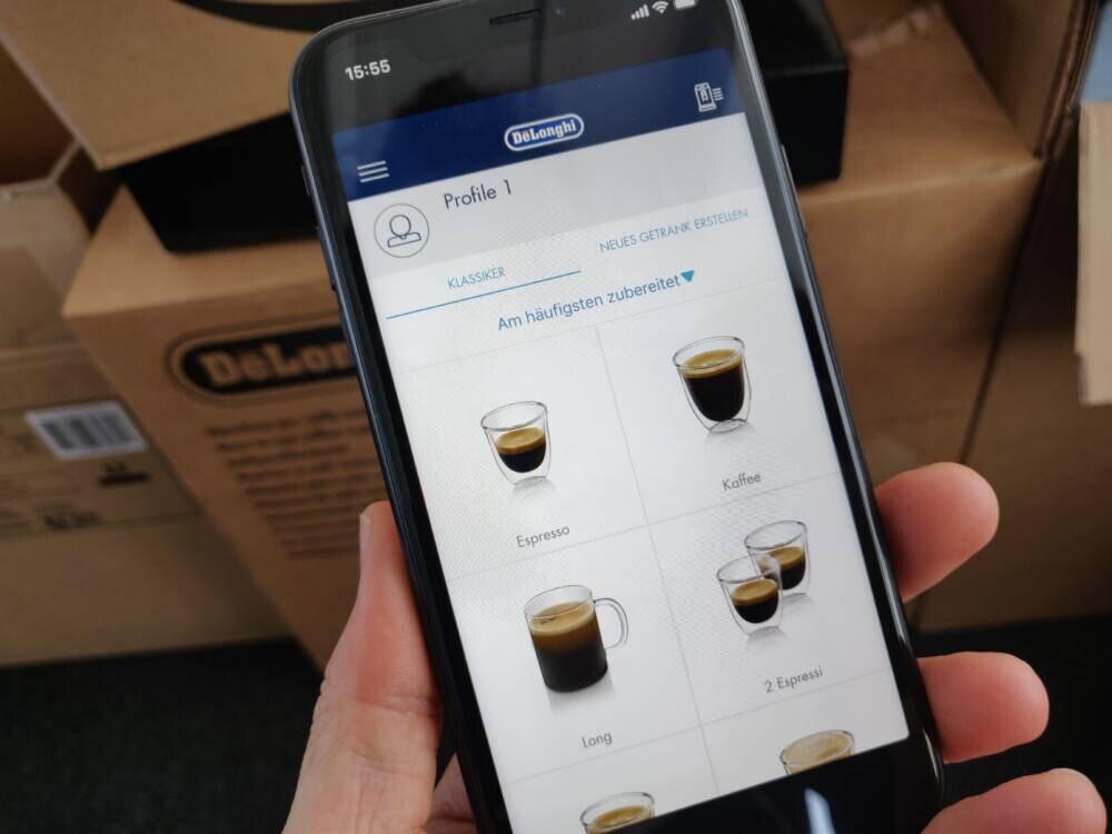 App für die De'Longhi Dinamica Plus