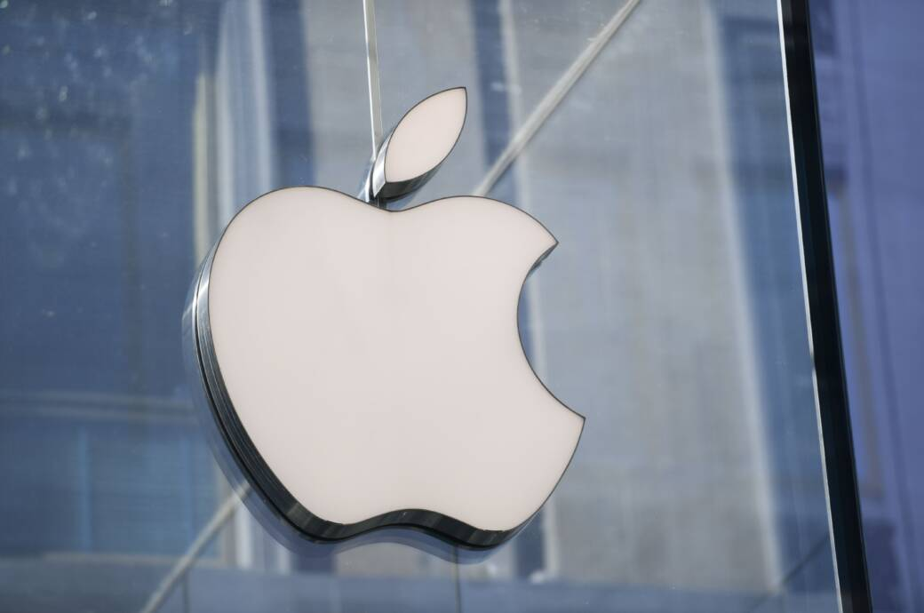 Apple Logo an Hauswand