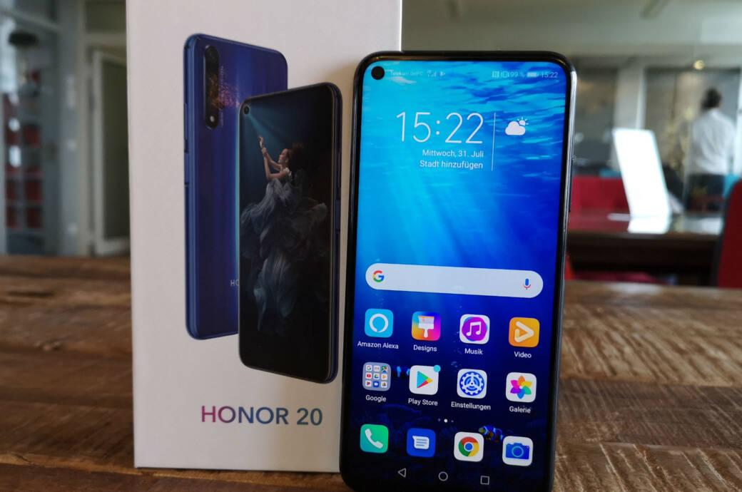 Honor 20 mit Verpackung