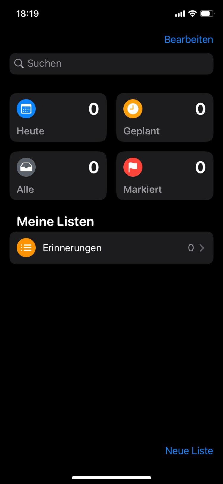 iOS 13 Erinnerungen
