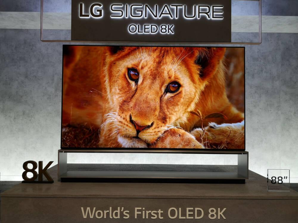 OLED-TV mit 8K-Auflösung von LG