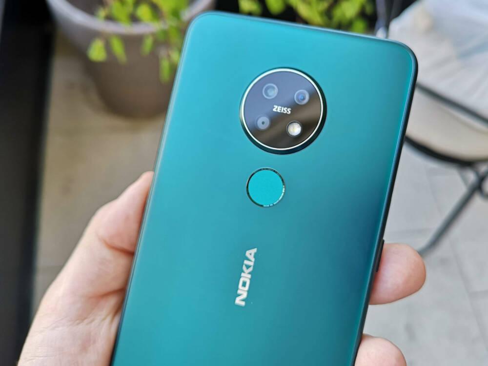 Die Rückseite des Nokia 7.2