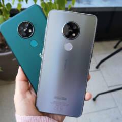 Nokia 7.2 in Silber und Grün