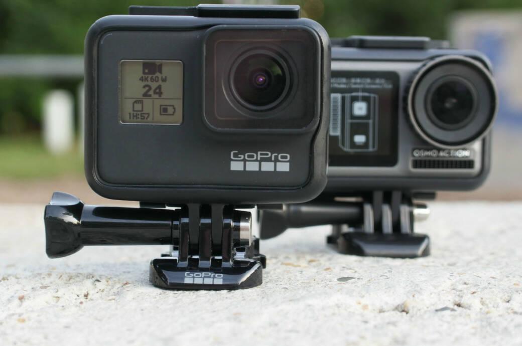 Die GoPro Hero 7 Black und DJI Osmo Action