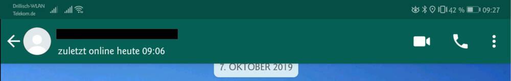 Bei whatsapp geblockt online status