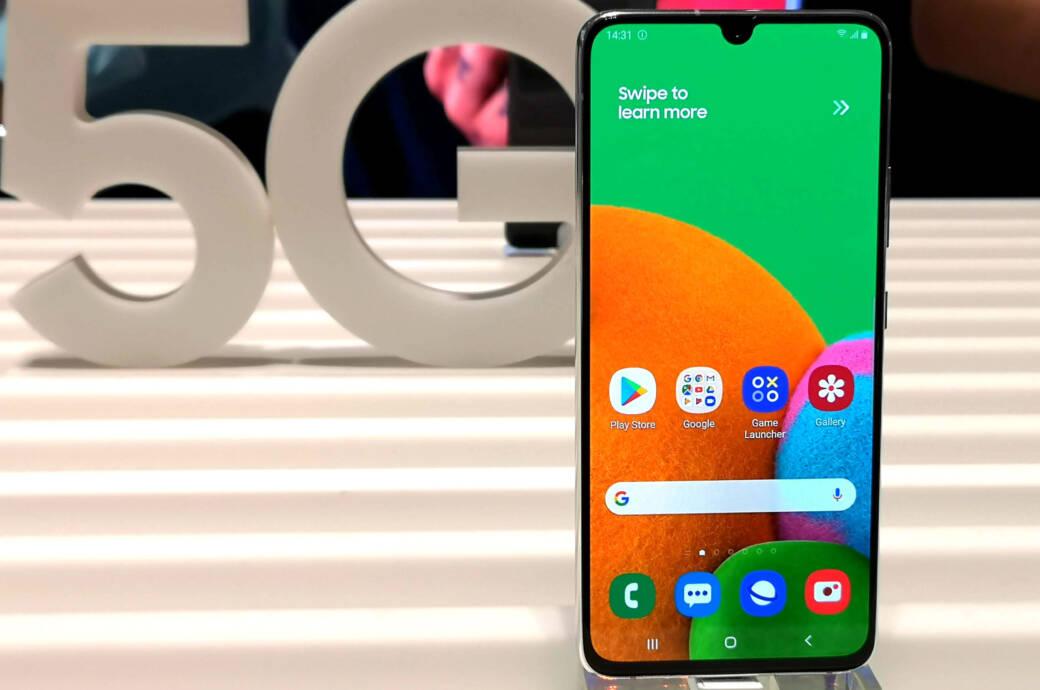 Samsung Galaxy A90 5G vor 5G-Schriftzug