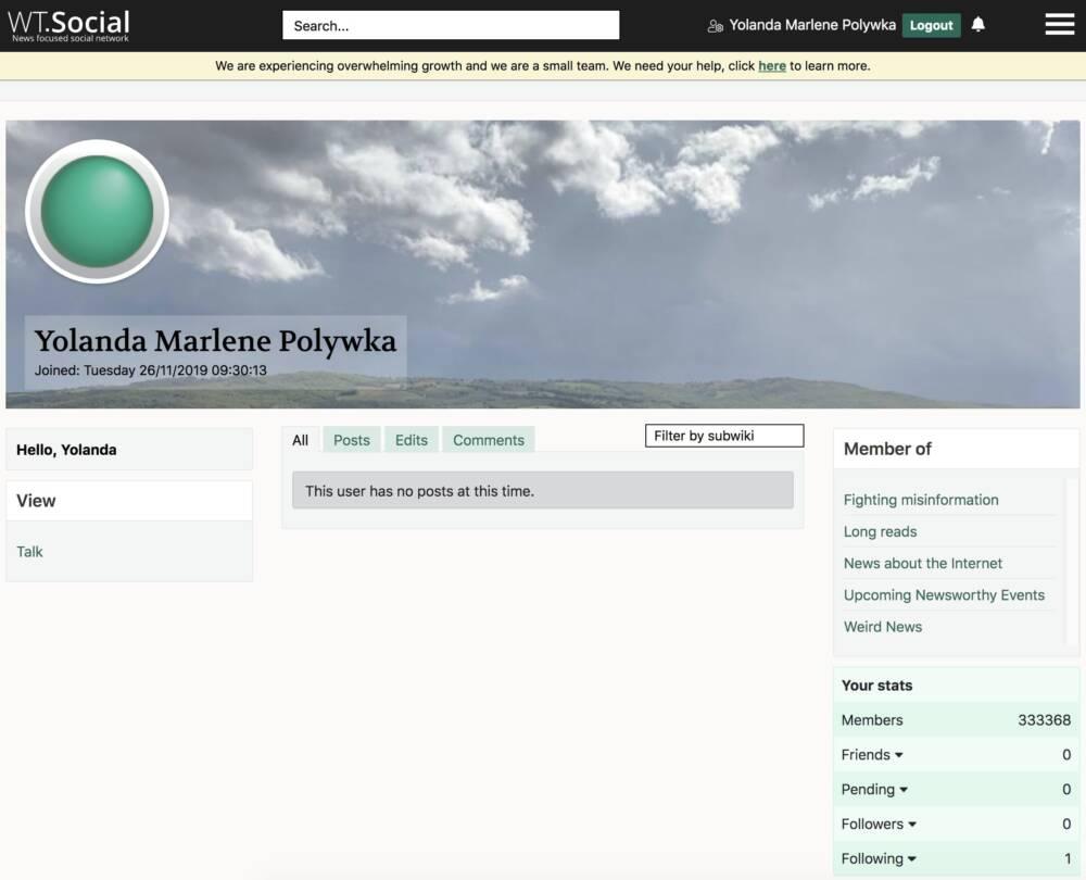 Screenshot WT:Social Profil
