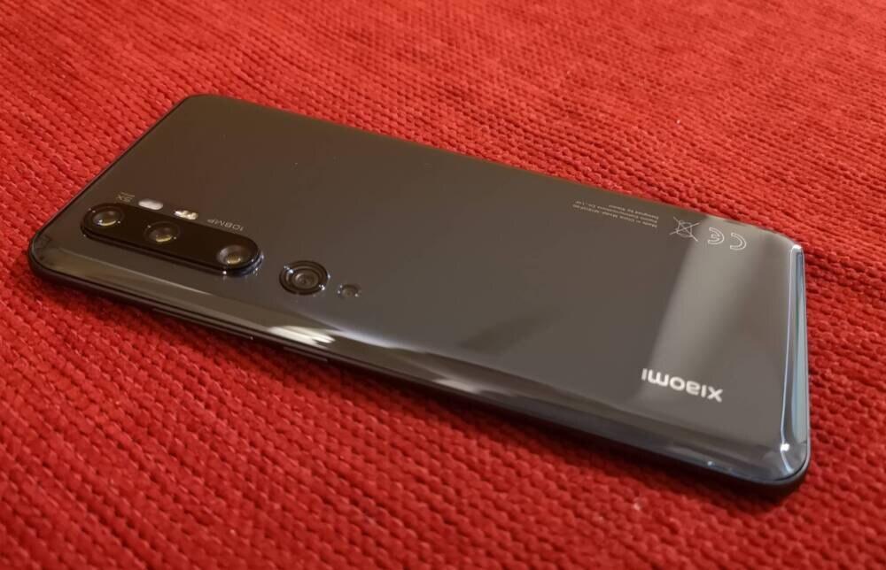 Rückansicht mit Kamera des Xiaomi Mi Note 10