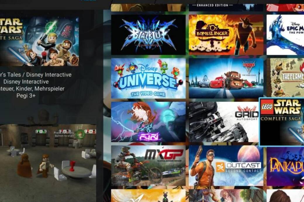 Katalog von Medions Cloud-Gaming-Dienst
