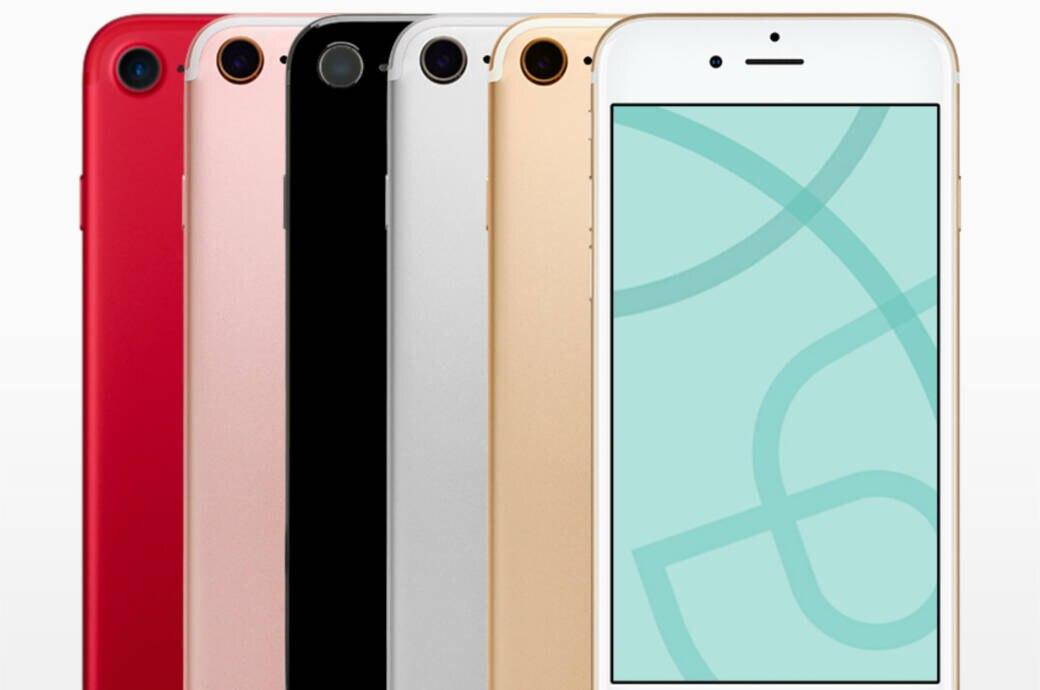 Apple iPhone 7 in verschiedenen Farben
