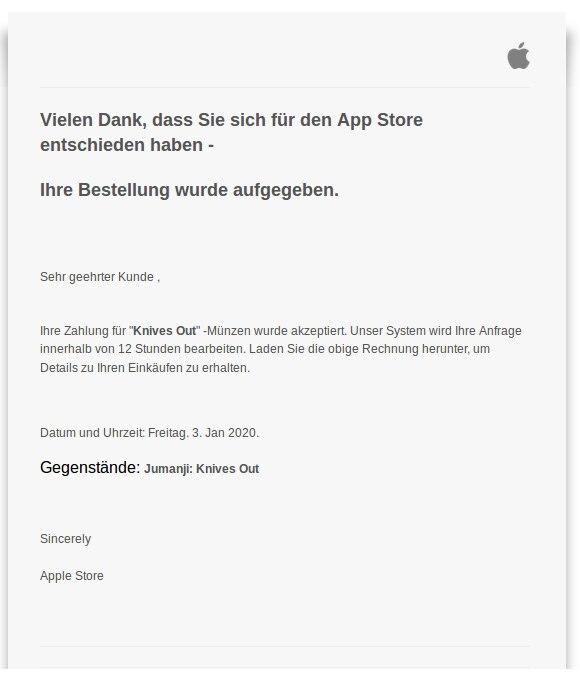 Gefälschte Apple-Rechnung