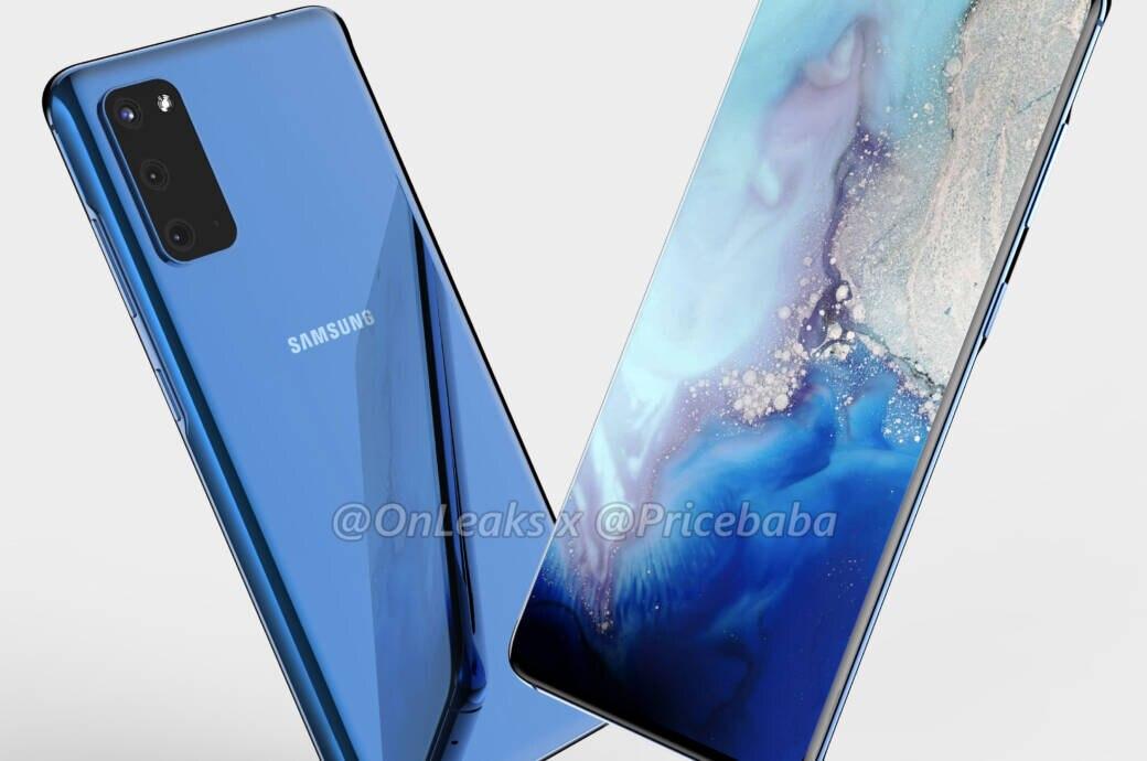 Render des Samsung Galaxy S11e bzw. S20e