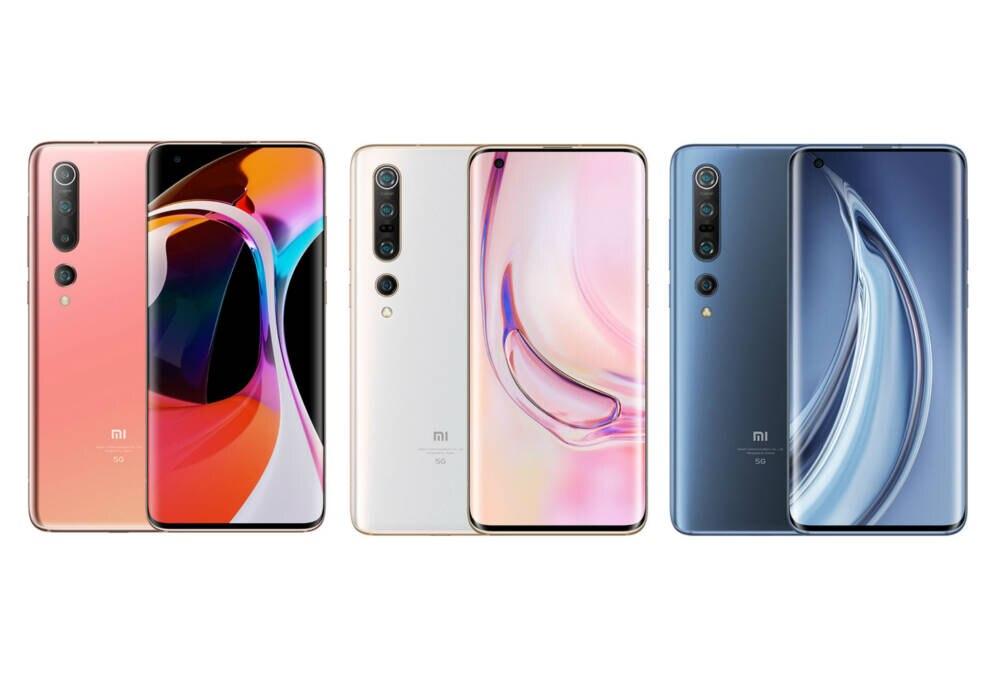 Xiaomi Mi 10 in verschiedenen Farben